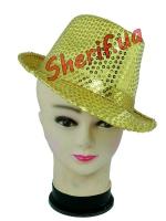 Шляпа блестящая с пайетками