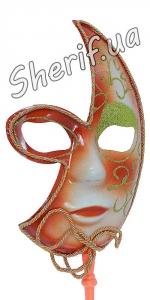 Карнавальная маска Венеция на палке