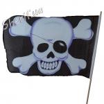 Флаг пирата 45х30см (высота 70 см) черный