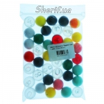 Шарики для рогатки Megaline пластик диам. 17мм, 40шт