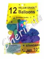 """Шарики воздушные перламутровые 10"""" 12 шт в упаковке"""