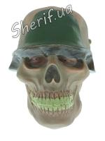 Карнавальная маска 'Череп в каске' (резина)