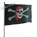 Флаг пирата 45х30см (высота 70 см)