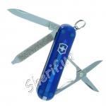 Нож Victorinox Classic SD 0.6223.Т2 полупрозрачный синий