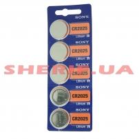Батарейка SONY СR2025 Lithium 1 шт