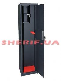 Сейф оружейный ШЗ 1300/2Т на 2 ружья с патронным отделением