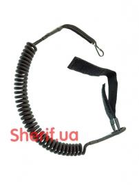 Шнур страховочный для пистолета витой Black-2