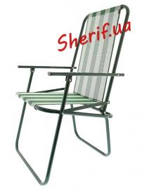 Складной стул Дачный (бело-зелёный)