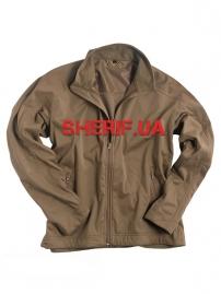 Куртка (кофта) MIL-TEC Softshell триламинат, лёгкая Coyote