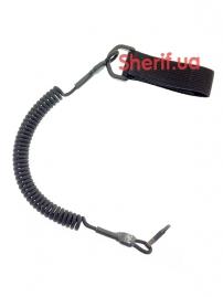Страховочный шнур C&M с карабином Black