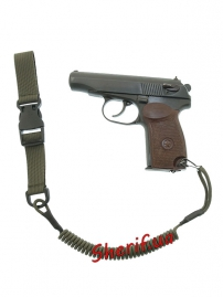 Страховочный шнур пистолетный быстросъемный Olive-2