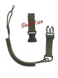 Страховочный шнур пистолетный быстросъемный Olive-3