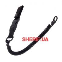 Страховочный шнур с карабином быстросъемный, Black