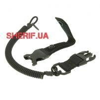 Страховочный шнур с карабином быстросъемный, Black-2