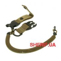 Страховочный шнур с карабином быстросъемный, Coyote-2
