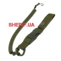 Страховочный шнур с карабином быстросъемный, Olive