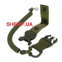 Страховочный шнур с карабином быстросъемный, Olive-2