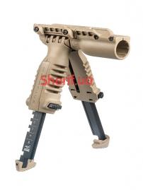 Рукоять тактическая - сошки со встроенным фонарем T-POD SL-3