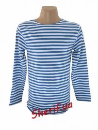 Тельняшка-футболка светло-синяя Ф-10037