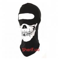 Балаклава с черепом Skull 1-hole Black