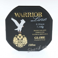 Леска Warrior Globe 0,26mm, 100m, 3.7kg