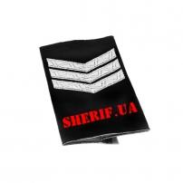 Погон Сержант полиции продевной (1шт)