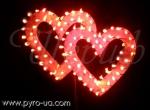 Сердце двойное с фонтанами (большое)