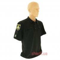 """Купить в Днепре Футболка-поло """"Полиция"""" CoolPass Black-1"""