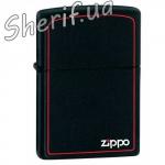 Зажигалка Zippo BLACK MATTE w ZIPPO BORDER 218 ZB