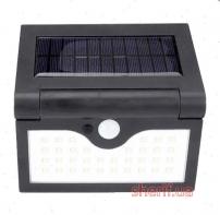 Настенный уличный светильник SH-090A-34SMD, 1x18650, PIR+CDS, солнечная батарея