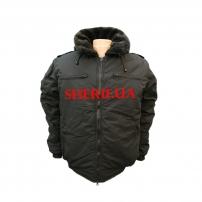 Куртка утепленная «Пилот» с меховым воротником цв. черный