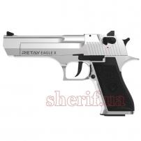 A126143W Пистолет стартовый Retay Eagle X кал. 9 мм. Цвет - chrome.