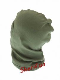 Балаклава MIL-TEK c 1 вырезом хлопок Olive-3