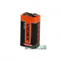 Батарейка сольова Videx 6F22/9V (Крона)