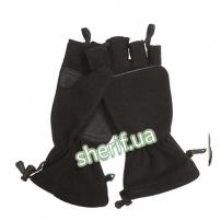 Флисовые перчатки-варежки (Black)