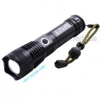 Фонарь Police X71A-HP50, ЗУ micro USB, 1x18650/3xAAA, zoom, индикация заряда, Box