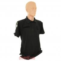 Футболка поло черная Полиция-1