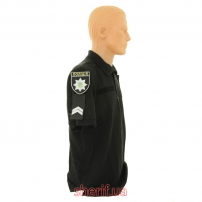 Футболка поло черная Полиция-2