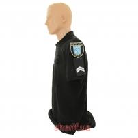 Футболка поло черная Полиция-3