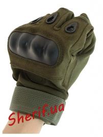 Перчатки тактические Oakley FF+плас.кост. Olive-5