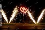 Сердце двойное с фонтанами (маленькое)