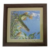 Картина бисером «Щука» 43х42см