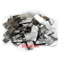 Конфетти Silver «Серебрянная фольга», 1 кг (метафан)