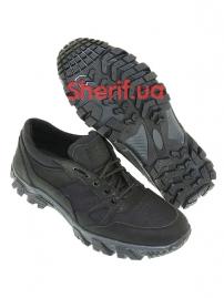 Комбинированные кроссовки на мембране Black (6)-3