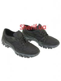 Комбинированные кроссовки на мембране Black (6)-4