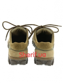 Комбинированные кроссовки на мембране Khaki (5)-4