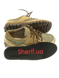 Комбинированные кроссовки на мембране Khaki (5)-5