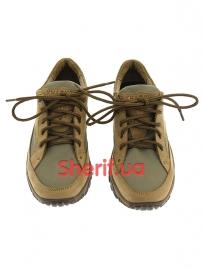 Комбинированные кроссовки на мембране Khaki (5)-2