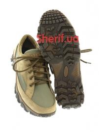 Комбинированные кроссовки на мембране Khaki (5)-3