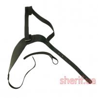 Лямка для оперативной кобуры односторонняя (кожа, чёрная)